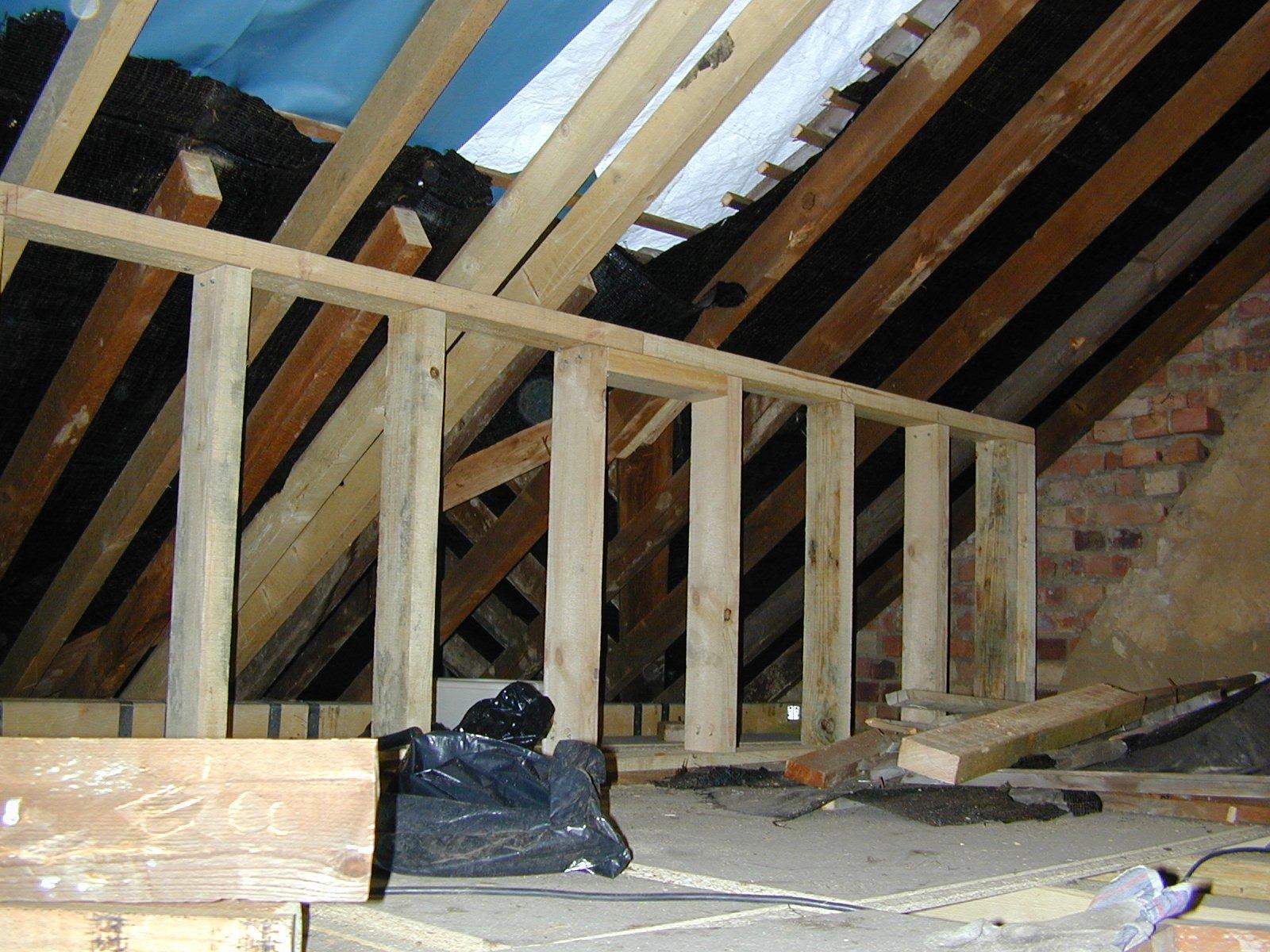 Diy loft conversion joists house conversions what 39 s to for Loft floor construction